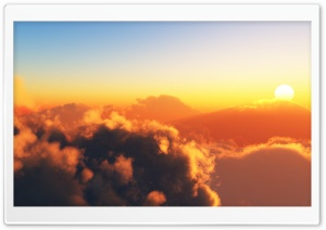 Sun Above The Clouds HD Wide Wallpaper for 4K UHD Widescreen desktop & smartphone