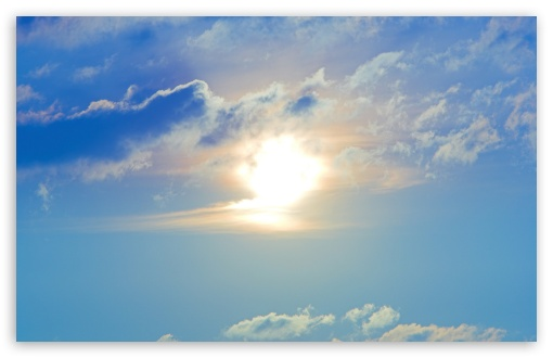Sun And Blue Clouds Sky HD wallpaper for Wide 16:10 5:3 Widescreen WHXGA WQXGA WUXGA WXGA WGA ; HD 16:9 High Definition WQHD QWXGA 1080p 900p 720p QHD nHD ; Standard 4:3 5:4 3:2 Fullscreen UXGA XGA SVGA QSXGA SXGA DVGA HVGA HQVGA devices ( Apple PowerBook G4 iPhone 4 3G 3GS iPod Touch ) ; Tablet 1:1 ; iPad 1/2/Mini ; Mobile 4:3 5:3 3:2 16:9 5:4 - UXGA XGA SVGA WGA DVGA HVGA HQVGA devices ( Apple PowerBook G4 iPhone 4 3G 3GS iPod Touch ) WQHD QWXGA 1080p 900p 720p QHD nHD QSXGA SXGA ;