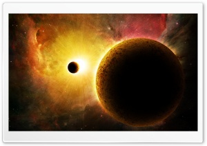 Sun And The Galaxy HD Wide Wallpaper for Widescreen