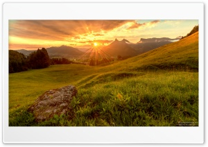 Sun Rays Through Clouds HD Wide Wallpaper for Widescreen