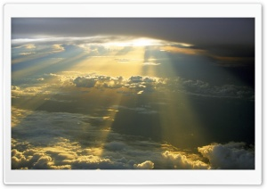Sun Rays Through The Clouds HD Wide Wallpaper for Widescreen