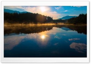 Sun Rise Carinthia Austria Egelsee HD Wide Wallpaper for Widescreen