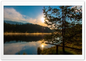 Sun Rise Carinthia Austria Egelsee HD Wide Wallpaper for 4K UHD Widescreen desktop & smartphone