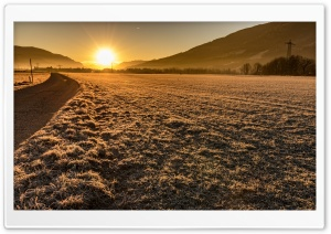 Sun Rise on a Cold Winters Day HD Wide Wallpaper for Widescreen