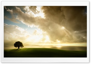 Sun Shining Through The Clouds HD Wide Wallpaper for Widescreen