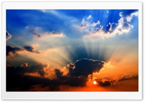 Sunbeams Through Clouds HD Wide Wallpaper for Widescreen