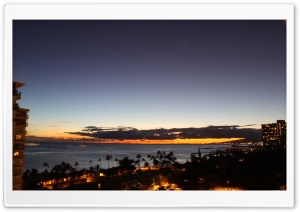 Sundown, Oahu, Hawaii HD Wide Wallpaper for Widescreen