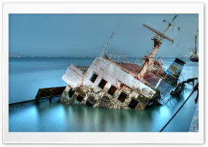 Sunken Ship HD Wide Wallpaper for Widescreen