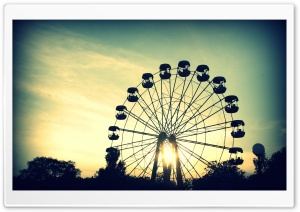 Sunlight Through Ferris Wheel HD Wide Wallpaper for Widescreen