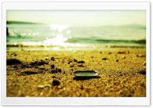 Sunlighted Beach HD Wide Wallpaper for Widescreen