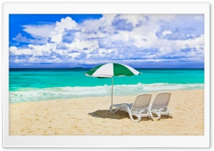 Sunny Day At The Beach HD Wide Wallpaper for Widescreen