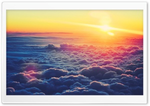 Sunrise Above The Clouds HD Wide Wallpaper for Widescreen