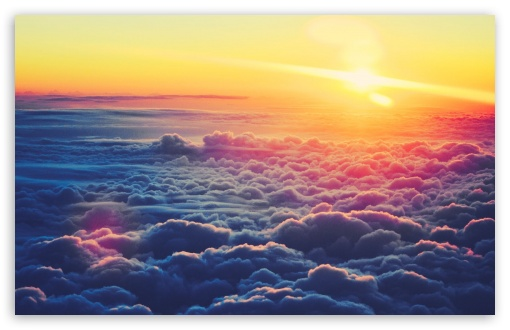 Sunrise Above The Clouds HD desktop wallpaper : Widescreen : High