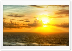 Sunrise Across The Sea HD Wide Wallpaper for Widescreen