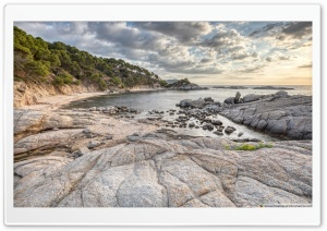 Sunrise at Cala Cap de Planes Palamos, Catalonia Ultra HD Wallpaper for 4K UHD Widescreen desktop, tablet & smartphone