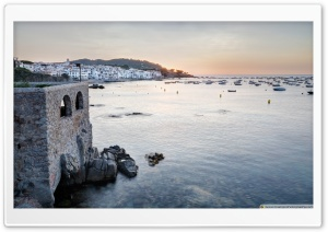 Sunrise At Calella de Palafrugell Catalonia Ultra HD Wallpaper for 4K UHD Widescreen desktop, tablet & smartphone