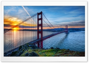 Sunrise At San Francisco HD Wide Wallpaper for 4K UHD Widescreen desktop & smartphone