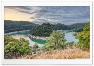 Sunrise at Sant Pere de Casserres Catalonia Ultra HD Wallpaper for 4K UHD Widescreen desktop, tablet & smartphone