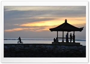 Sunrise at Sanur Beach Bali Indonesia HD Wide Wallpaper for Widescreen
