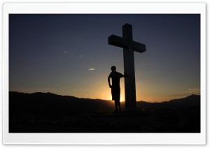 Sunrise at the Cross HD Wide Wallpaper for Widescreen