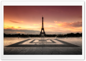 Sunrise at the Eiffel Tower HD Wide Wallpaper for 4K UHD Widescreen desktop & smartphone