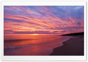 Sunrise Beach HD Wide Wallpaper for Widescreen