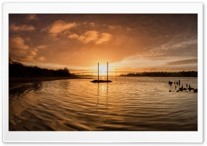 Sunrise, Clyde River, Scotland HD Wide Wallpaper for Widescreen