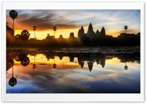 Sunrise Discovery of Angkor Wat HD Wide Wallpaper for Widescreen
