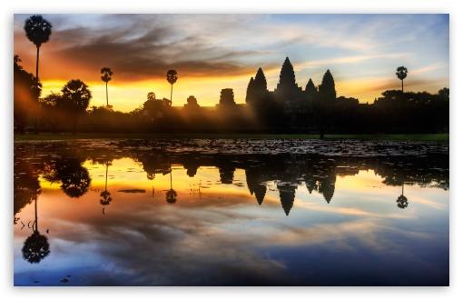 Sunrise Discovery Of Angkor Wat 4k Hd Desktop Wallpaper