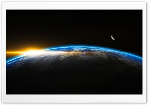 Sunrise from Space Ultra HD Wallpaper for 4K UHD Widescreen desktop, tablet & smartphone