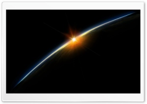 Sunrise In Space HD Wide Wallpaper for Widescreen