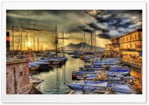Sunrise In The Naples Docks HD Wide Wallpaper for 4K UHD Widescreen desktop & smartphone