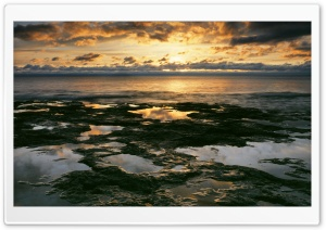 Sunrise Light On Lake Michigan At Cave Point County Park Wi HD Wide Wallpaper for Widescreen