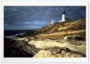 Sunrise Light On Pemaquid Lighthouse Atlantic Ocean Me HD Wide Wallpaper for 4K UHD Widescreen desktop & smartphone