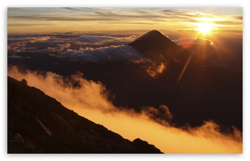 Sunrise Over Acatenango Volcano, Guatemala HD wallpaper for Wide 16:10 5:3 Widescreen WHXGA WQXGA WUXGA WXGA WGA ; HD 16:9 High Definition WQHD QWXGA 1080p 900p 720p QHD nHD ; Standard 4:3 5:4 3:2 Fullscreen UXGA XGA SVGA QSXGA SXGA DVGA HVGA HQVGA devices ( Apple PowerBook G4 iPhone 4 3G 3GS iPod Touch ) ; Tablet 1:1 ; iPad 1/2/Mini ; Mobile 4:3 5:3 3:2 16:9 5:4 - UXGA XGA SVGA WGA DVGA HVGA HQVGA devices ( Apple PowerBook G4 iPhone 4 3G 3GS iPod Touch ) WQHD QWXGA 1080p 900p 720p QHD nHD QSXGA SXGA ;