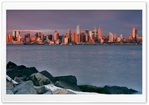 Sunrise Over Manhattan HD Wide Wallpaper for Widescreen
