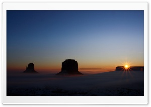 Sunrise Over Monument Valley, Arizona, US HD Wide Wallpaper for Widescreen