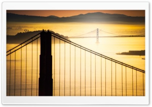 Sunrise Over San Francisco Bay HD Wide Wallpaper for 4K UHD Widescreen desktop & smartphone