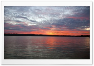 Sunrise, Portage Lake, Onekama, MI HD Wide Wallpaper for Widescreen