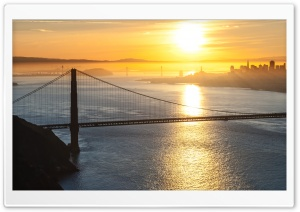 Sunrise, San Francisco Ultra HD Wallpaper for 4K UHD Widescreen desktop, tablet & smartphone