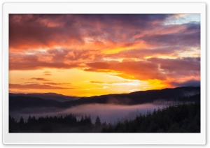 Sunrise, Trossachs HD Wide Wallpaper for Widescreen