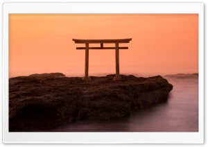 Sunrise View, Torii, Japan HD Wide Wallpaper for Widescreen