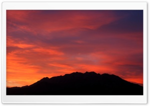 Sunset - Mount Timpanogos HD Wide Wallpaper for Widescreen