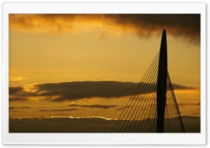 Sunset   Prince Claus Bridge, Utrecht, The Netherlands HD Wide Wallpaper for Widescreen