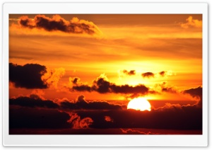 Sunset Above Clouds HD Wide Wallpaper for Widescreen