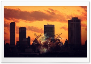 Sunset Abstract City HD Wide Wallpaper for Widescreen