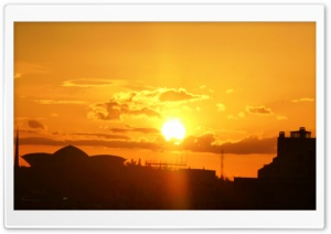 Sunset Armenia, Yerevan HD Wide Wallpaper for Widescreen