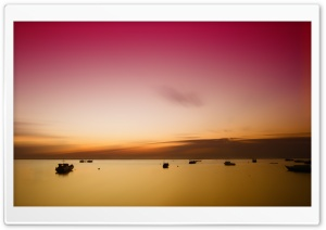 Sunset at Derawan Island, East Borneo, Indonesia HD Wide Wallpaper for Widescreen