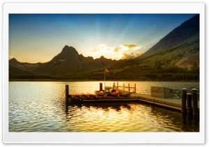 Sunset At Glacier National Park HD Wide Wallpaper for 4K UHD Widescreen desktop & smartphone
