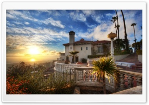 Sunset At Hearst Estate HD Wide Wallpaper for Widescreen